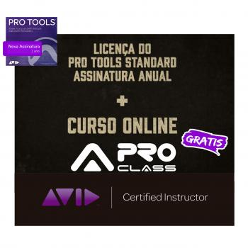 Pro Tools Std Assinatura 1 ano + Curso Online PT101 e 110